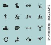 set of 16  training icons....