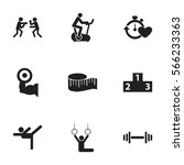 set of 9  sport icons. includes ...
