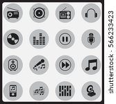 set of 16  multimedia icons....