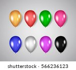 colorful balloon set isolated... | Shutterstock .eps vector #566236123