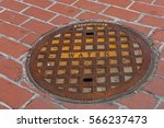 A Rusted Manhole Cover.