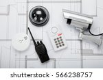 security system sensors | Shutterstock . vector #566238757