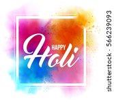 happy holi indian spring... | Shutterstock .eps vector #566239093