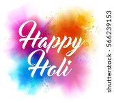 happy holi indian spring... | Shutterstock .eps vector #566239153