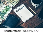 budget planing concept. top... | Shutterstock . vector #566242777