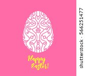 happy easter greeting card... | Shutterstock .eps vector #566251477