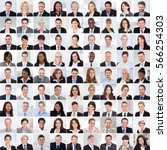 collage of diverse multi ethnic ... | Shutterstock . vector #566254303