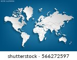 political map of the world.... | Shutterstock .eps vector #566272597