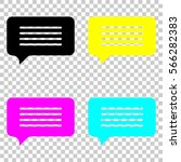 message cloud icon. colored set ... | Shutterstock .eps vector #566282383