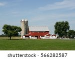 Amish Farm And Barn In...