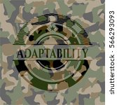 adaptability on camouflaged... | Shutterstock .eps vector #566293093