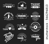 thank you text lettering vector ... | Shutterstock .eps vector #566296813
