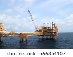 offshore construction platform... | Shutterstock . vector #566354107