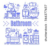set icon home areas bathroom.... | Shutterstock .eps vector #566377657