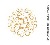 lettering happy valentines day. ... | Shutterstock .eps vector #566379397