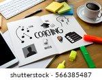 coaching  training planning...   Shutterstock . vector #566385487