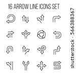 set of arrow icons in modern...