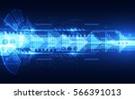 abstract speed technology... | Shutterstock .eps vector #566391013
