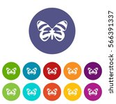 butterfly set icons in... | Shutterstock .eps vector #566391337
