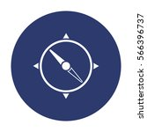 compass icon vector flat design ... | Shutterstock .eps vector #566396737