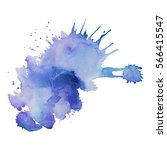 abstract hand drawn watercolor... | Shutterstock .eps vector #566415547