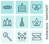 Set Of 9 Christmas Icons....