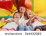happy people.mother   her two... | Shutterstock . vector #566432083