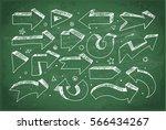 doodle sketch arrows hand drawn ... | Shutterstock .eps vector #566434267