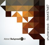 abstract background   triangle... | Shutterstock .eps vector #566437687