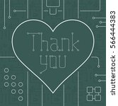 thank you day greeting card.... | Shutterstock .eps vector #566444383