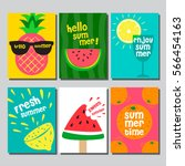 summer   layout design ... | Shutterstock .eps vector #566454163