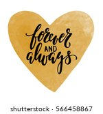 forever and always hand drawn... | Shutterstock .eps vector #566458867