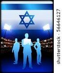 israel business team on stadium ... | Shutterstock .eps vector #56646127