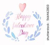 valentines day cute kawaii... | Shutterstock . vector #566462803