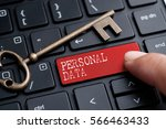 closed up finger on keyboard... | Shutterstock . vector #566463433