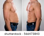close up of a man before and... | Shutterstock . vector #566473843