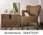 white frames with green leaves... | Shutterstock . vector #566475247
