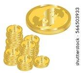 vector illustration of golden... | Shutterstock .eps vector #566503933