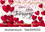 happy valentines day romantic... | Shutterstock .eps vector #566509033
