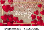 happy valentines day romantic... | Shutterstock .eps vector #566509087