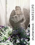 cupid statue hole sink in the...   Shutterstock . vector #566511193