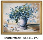 """spring blue flowers """" forget me ...   Shutterstock . vector #566513197"""