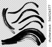 hand drawn curved brushstrokes... | Shutterstock .eps vector #566526577