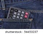 calculator in pocket.   Shutterstock . vector #56653237