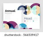 circle annual report templates  ... | Shutterstock .eps vector #566539417