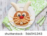 Funny Bunny Pancakes With...