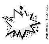 blank template comic text... | Shutterstock .eps vector #566544613