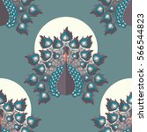 seamless pattern with colorful...   Shutterstock .eps vector #566544823