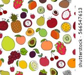 seamless pattern with colorful... | Shutterstock .eps vector #566547613