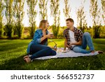 shot of a beautiful couple on a ... | Shutterstock . vector #566552737